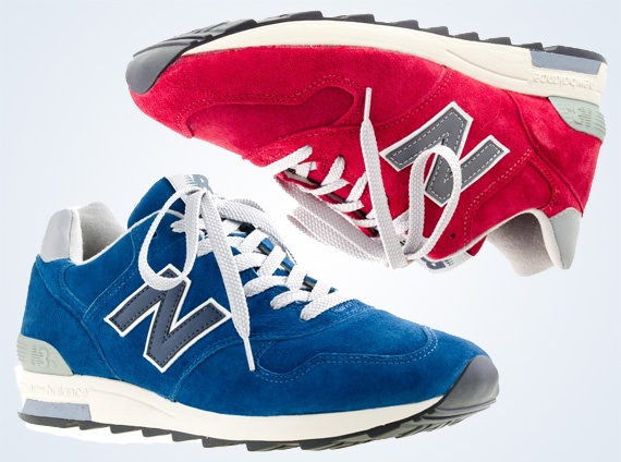 j.crew for new balance 1400 blue sky  cranberry sneakernews