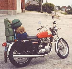 Motorcycle camping - so fun, i miss it, but your butt does go numb  :)