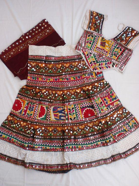 Navratri chaniya choli Designer Indian White and by mfussion, $115.00