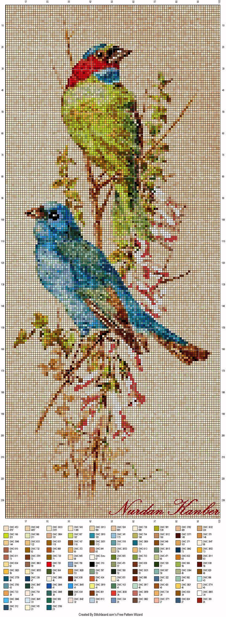 Love Birds - Cross-Stitch