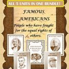SAVE!! SAVE!!! SAVE!!!!ALL 5 of my famous American units in one bundle!  -  Abraham Lincoln-  Martin Luther King Jr.-  Susan B. Anthony-  Jackie Robinson - Helen Keller