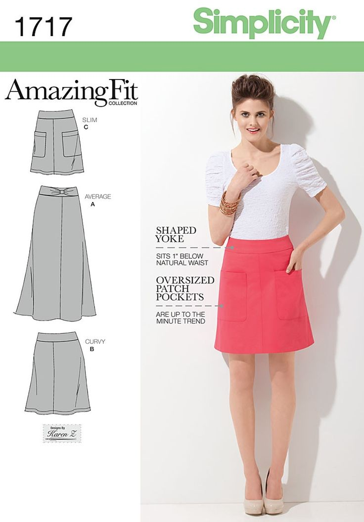 Simplicity Amazing Fit 1717. Skirt in three fits. £8.15