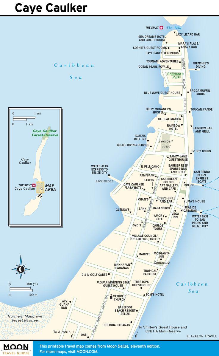 Caye Caulker Beaches Belize Map Of Belize Belize Vacations Belize Travel Guide