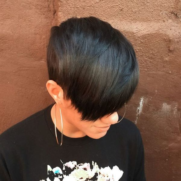 black pixie haircut with bangs http://blanketcoveredlover.tumblr.com/post/157379387023/african-american-wedding-hairstyles-short
