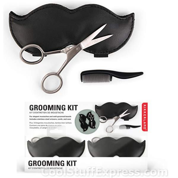 pin mustache grooming kit on pinterest. Black Bedroom Furniture Sets. Home Design Ideas