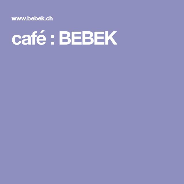 café : BEBEK