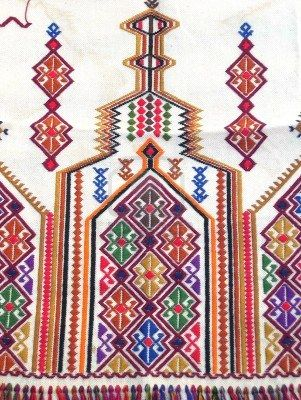 traditioanl embroidery  from the island of- crete greece