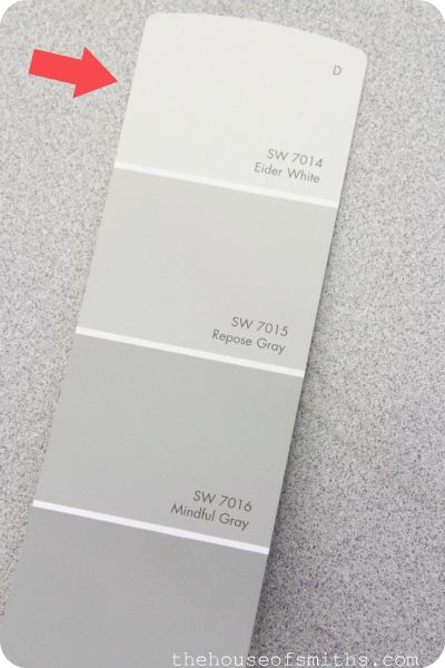 Sherwin Williams Eider White Repose or Mindful Gray