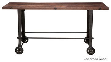 V17 Bar Table, Reclaimed Wood Top - eclectic - bar tables - Inmod