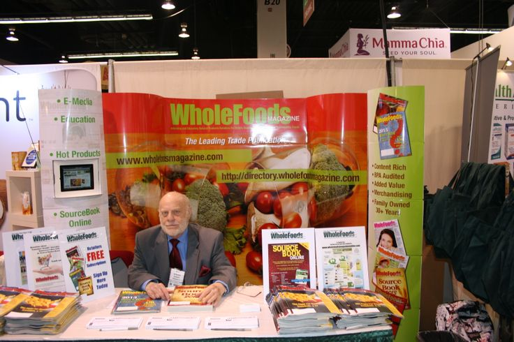 President Howie Wainer at our WholeFoods Magazine booth at Natural Products Expo West