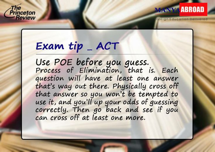 ACT Exam - Tips & Preparations