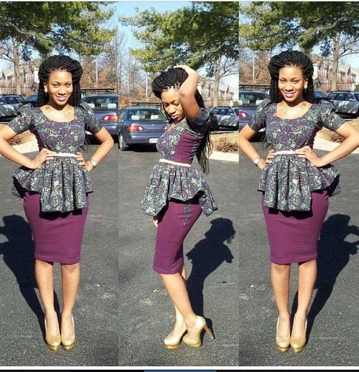 African Print Peplum Top | FashionGist.