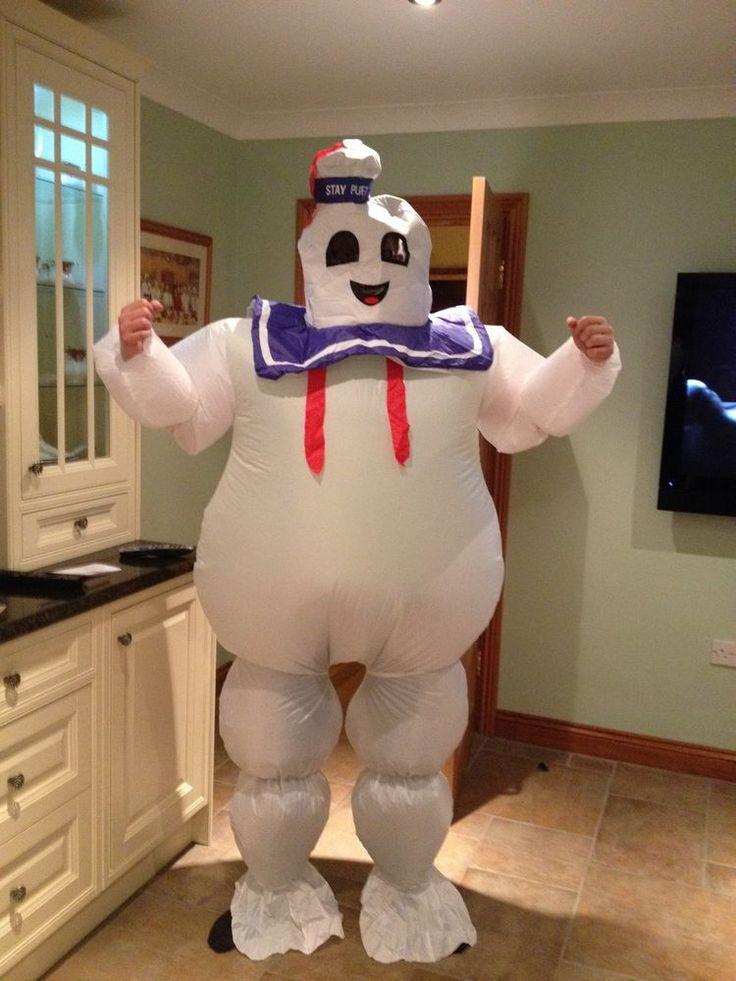 Ghostbusters Fancy Dress Marshmallow Man Costume 1980 s mens Fancy Dress