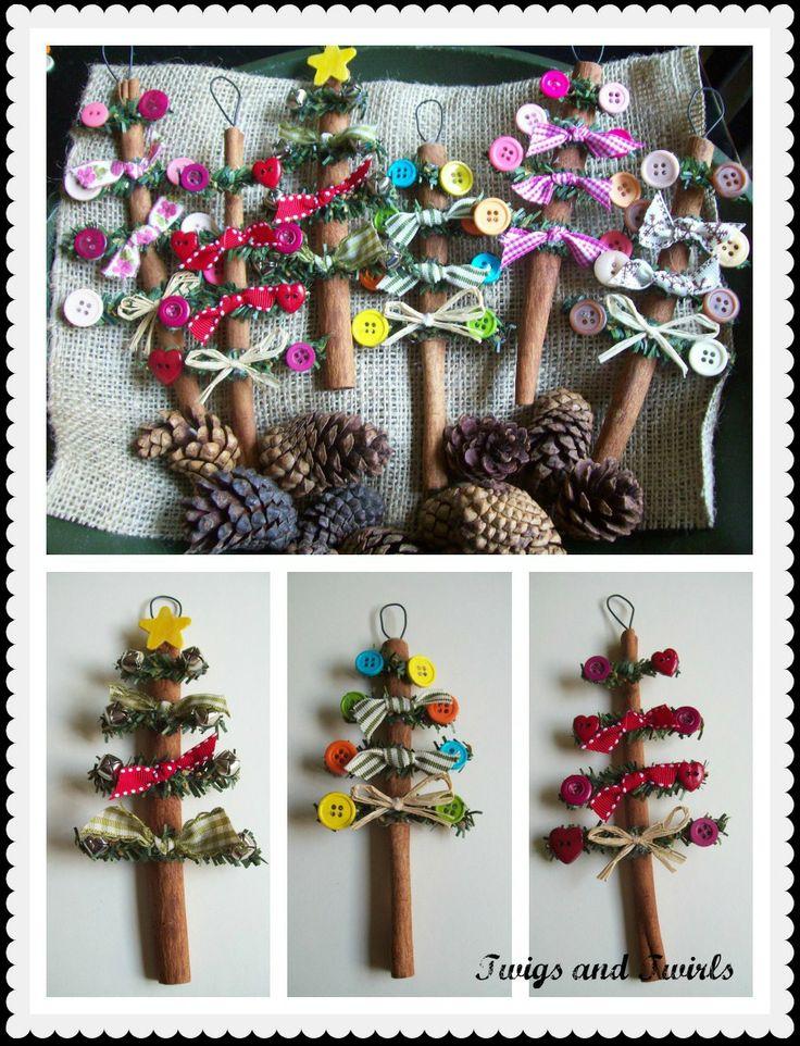 Twigs and Twirls: Cinnamon Stick Tree  Ornament