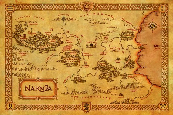 The Chronicles of Narnia Poster Map