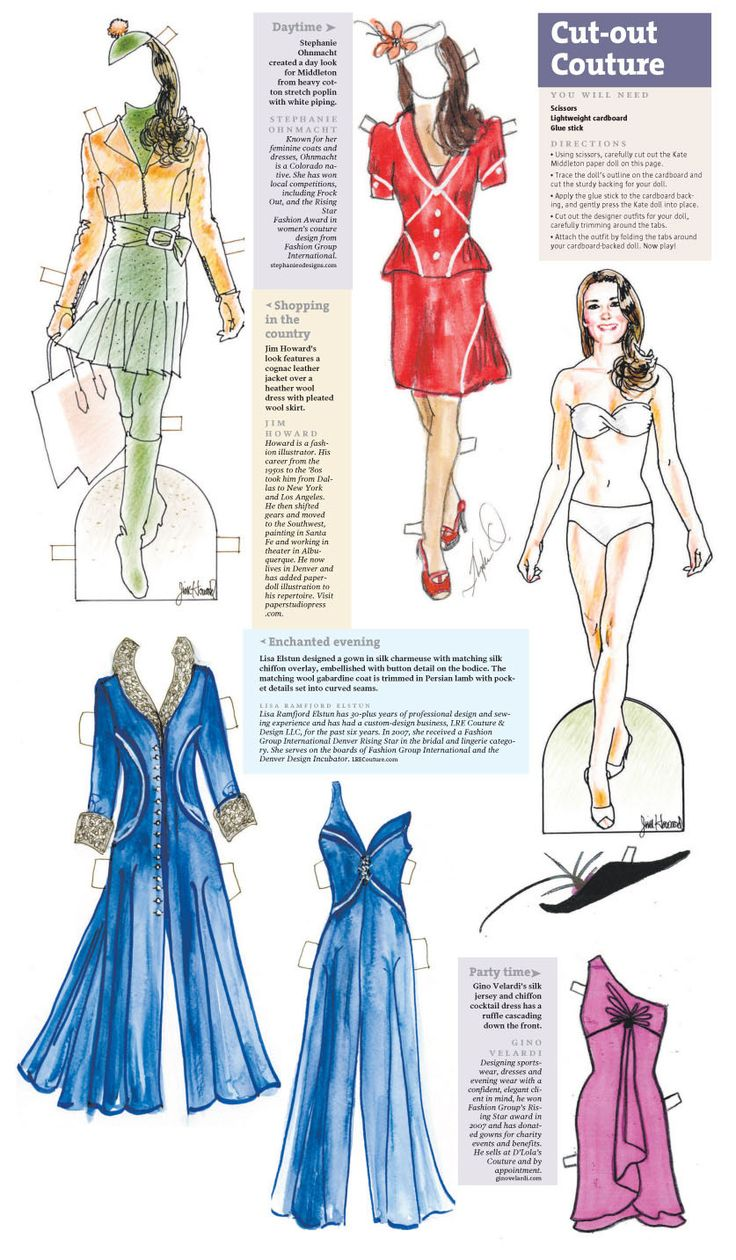 From the Denver Post-Catherine Middleton Paper Doll (scroll to the bottom and click on a link for the printable pdf)