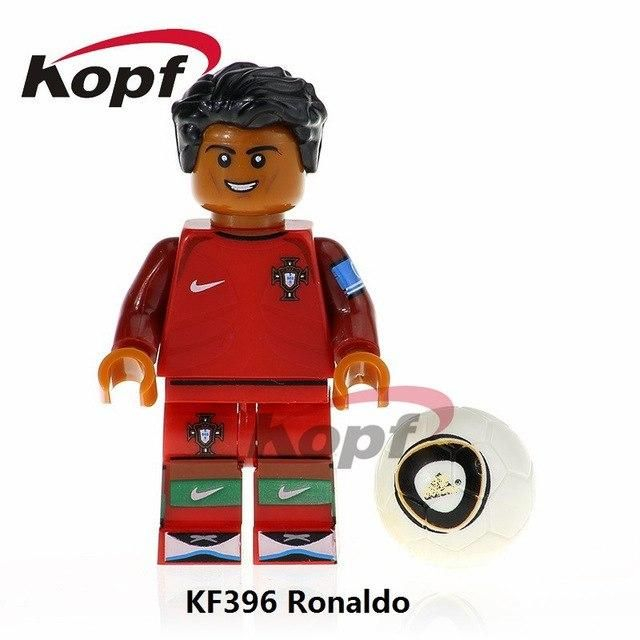 Football Team Pogba Ronaldo Messi Ibrahimovic Beckham Neymar Building Blocks Toy