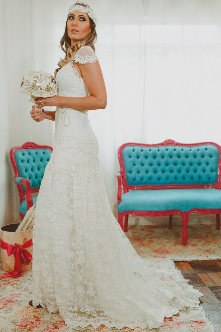 Vestido de noiva Boho Chic / Vestido de noiva Hippie Chic /