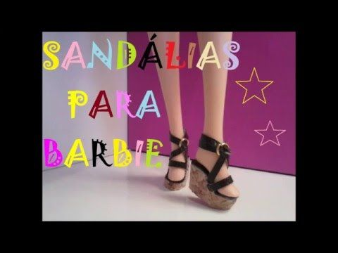 Sapato de Cola Quente Com Salto Para Barbie, EAH e outras bonecas - YouTube