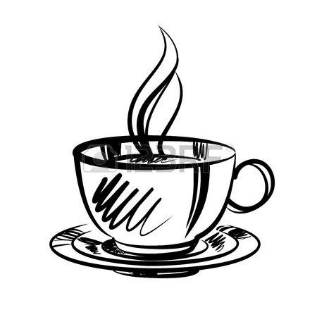 cup of coffee cartoon illustration Stock Vector