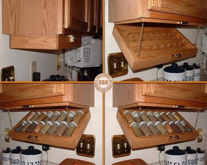 Buena idea para almacenar los botes de especias cocina - Botes almacenaje cocina ...