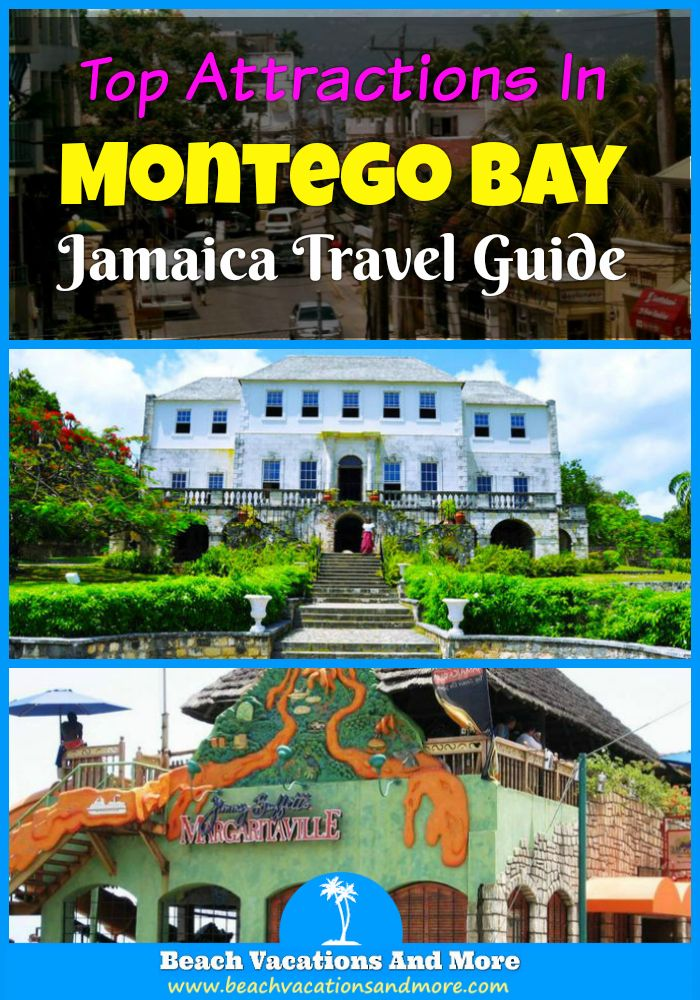 Best Montego Bay attractions in Jamaica - Rose Hall Great House, Rastafari Indigenous Village, Marine Park, Margaritaville, Sam Sharpe Square, Doctor's Cave Beach, Rocklands Bird Sanctuary and other points of interest