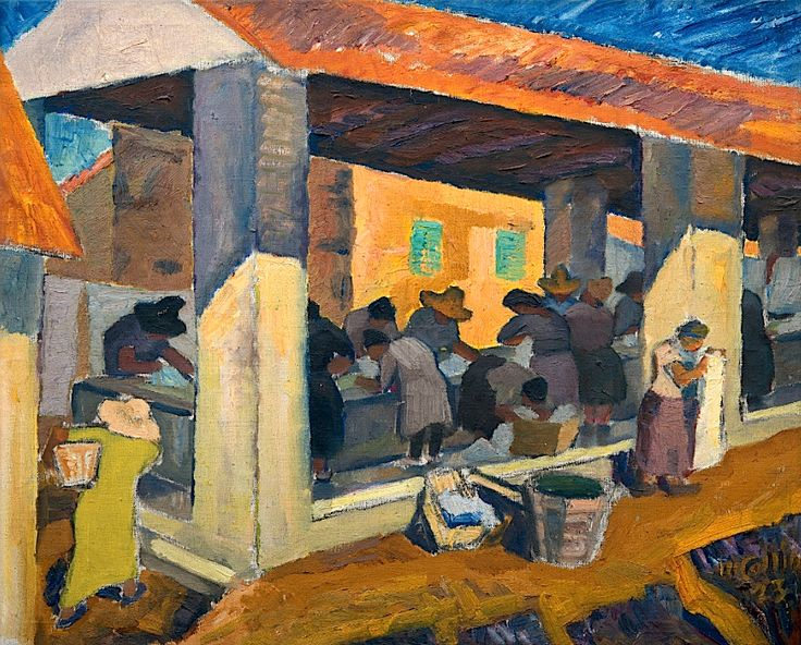 Marcus Collin 1882-1966 Mexican Washer Women