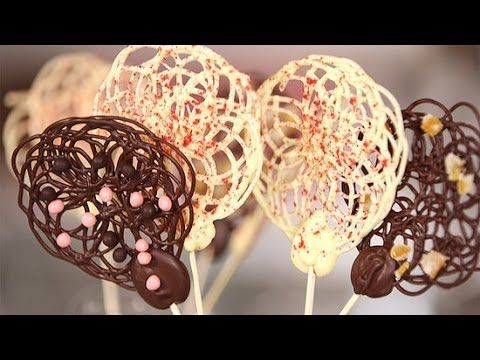Chocolate Lace Lollipops That Are Shockingly Easy to Make