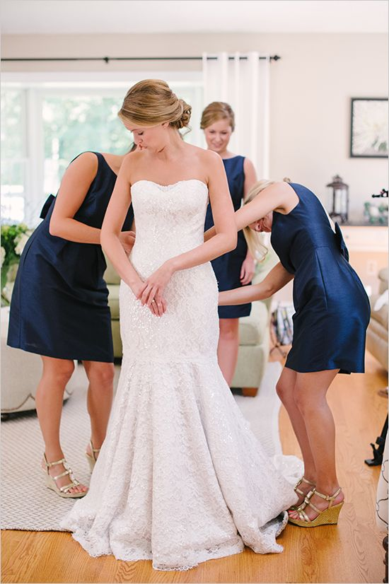 Getting Wedding Ready Bridesmaids Southern Navy Ideas Weddings