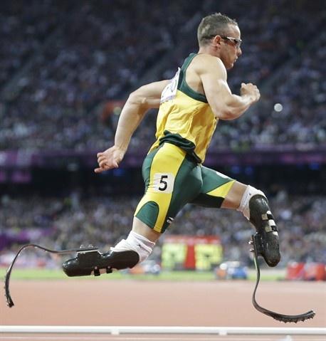 Oscar Pistorius <3 in one of the Men's 400m semifinals