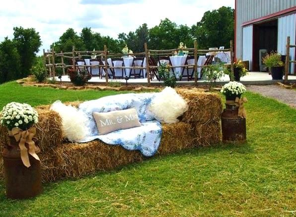 Blessed Oak Farm Wedding Oklahoma Wedding Venue Outdoor Wedding Hay Bale Seating Te In 2020 Oklahoma Wedding Venues Outdoor Rustic Chic Wedding Oklahoma Wedding Venues