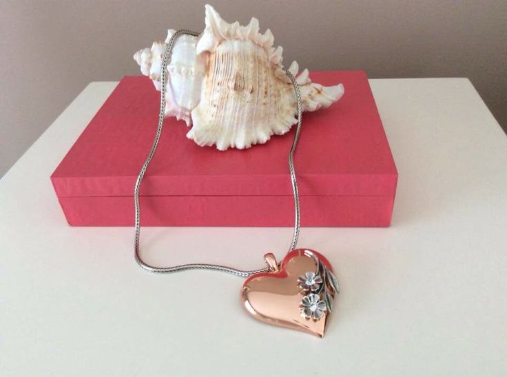 Large rose gold floral embellished heart from my Miglio collection.