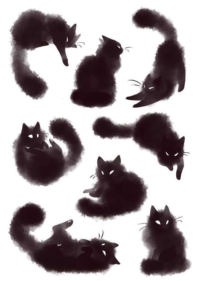 """rozenn-blog: """" Bunch of kitties ♥️ I'll probably make a set of stickers with thoses (•v• )/ """""""