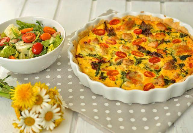 tasty life: Quiche s rajčaty, rukolou a kuřecím masem