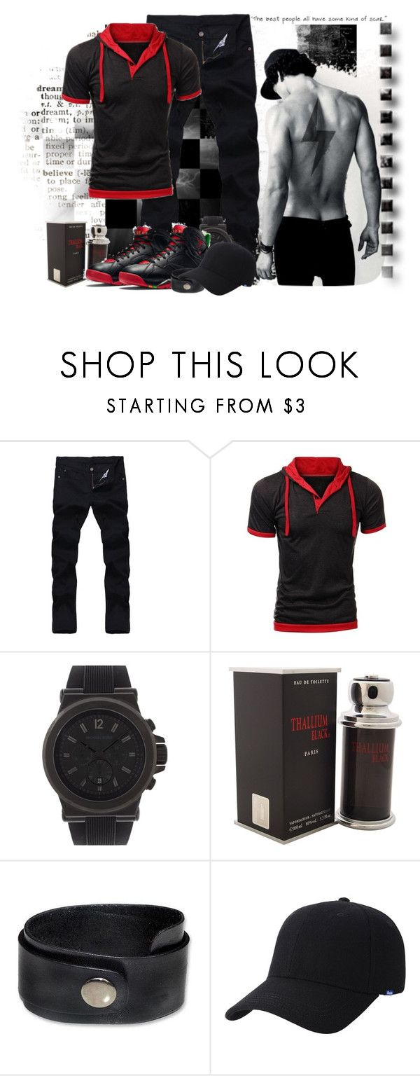 """""""some kind of scar"""" by sasane ❤ liked on Polyvore featuring Michael Kors, Jacques Evard, Freaker, NOVICA, Keds, men's fashion and menswear"""
