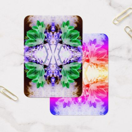 Clematis - flowers abstract - inverted colors business card - flowers floral flower design unique style