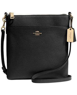 COACH North/South Swingpack in Embossed Textured Leather - Crossbody & Messenger Bags - Handbags & Accessories - Macy's