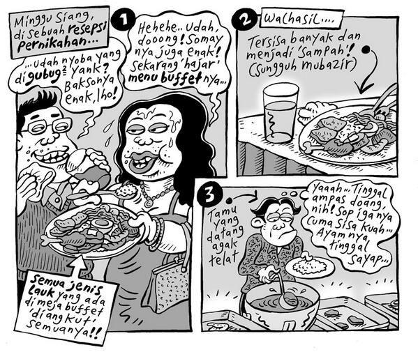 Resepsi Pernikahan #KomikJakarta @mice_cartoon