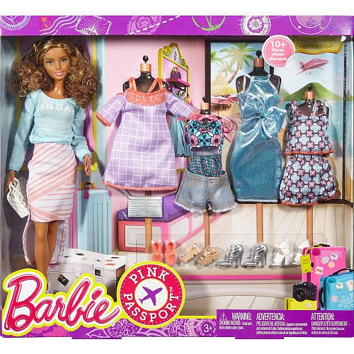 Barbie Pink Passport Teresa Doll Gift Set Mattel Toys