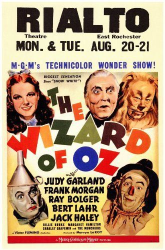 Judy Garland, Ray Bolger, Jack Haley, Bert Lahr, and Frank Morgan in The Wizard of Oz (1939)