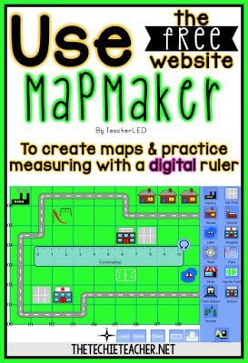 Great for mapping setting! Use the free website, Mapmaker, to create maps and practice measuring with a digital ruler.