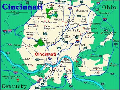 Map Of Downtown Cincinnati | Free Printable Maps: Cincinnati Map