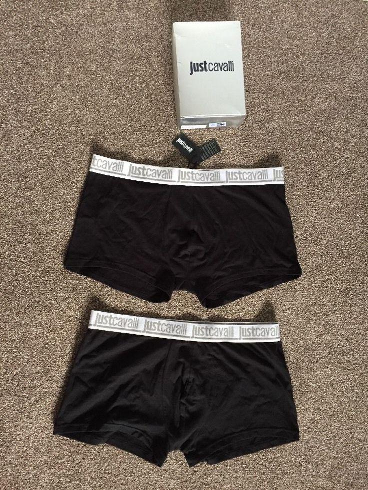 JUST CAVALLI SET Of 2 man's SLIP-BOXER TRUNK underwear size XXL BNWT &Box RRP£43