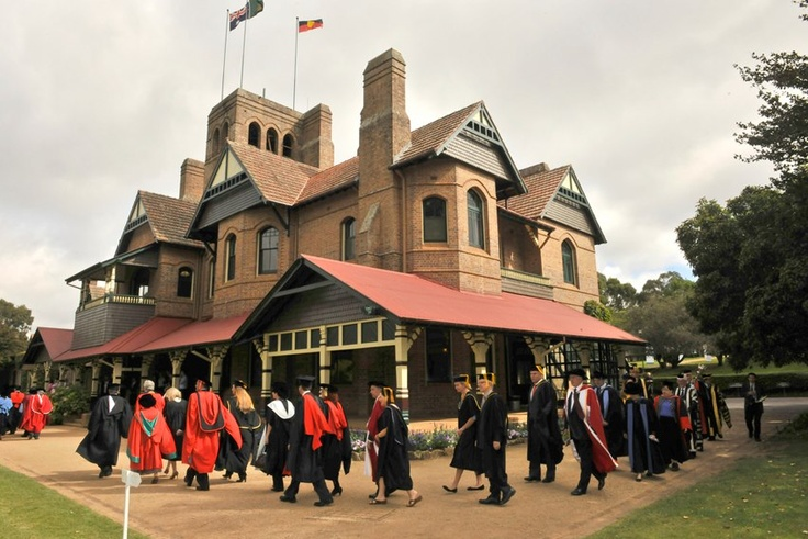 UNE Graduation procession