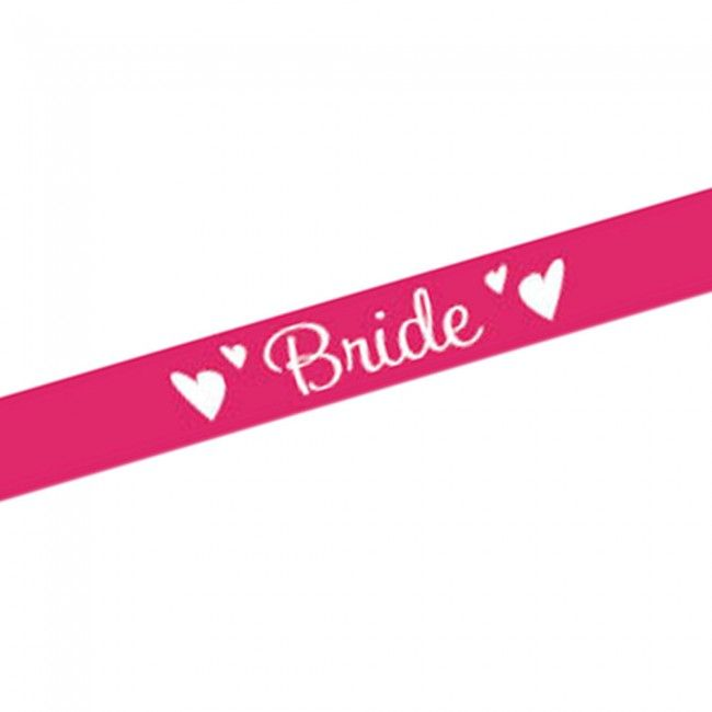 Pink Bride Satin Sash