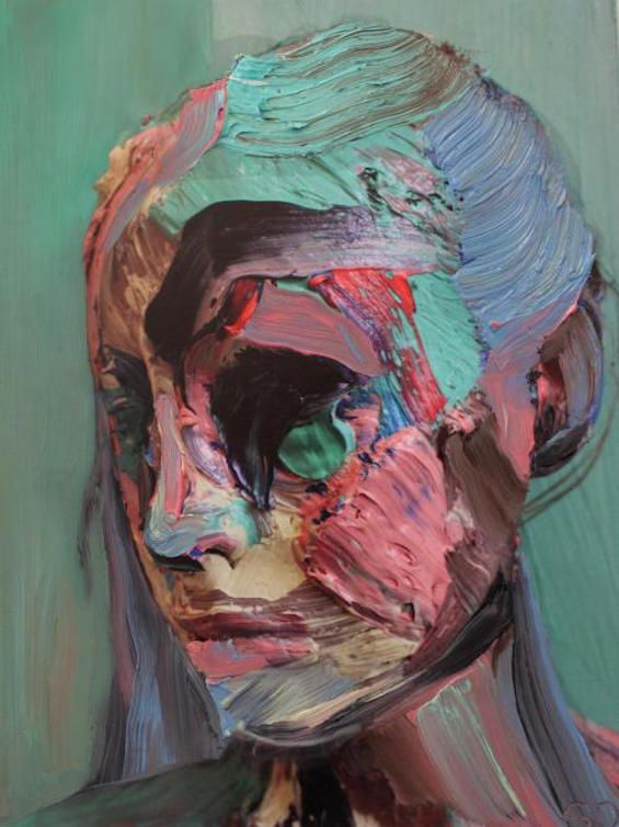 Sophie Derrick's Colorful, Layered Self Portraits Created By Painting Directly Onto Her Skin
