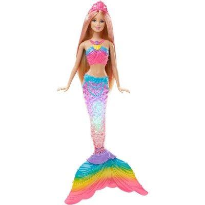 Poupée Barbie : Sirène Couleurs et Lumières - Mattel-DHC40