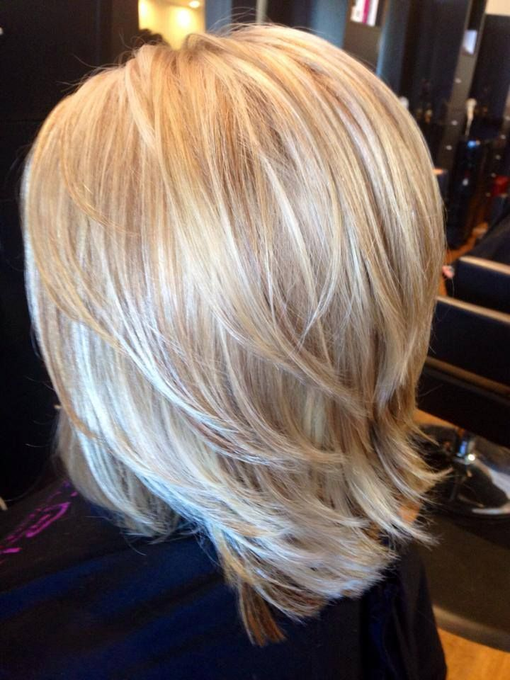 Base Color Highlight Amp Low Light Mid Length Hair