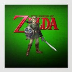 Zelda Sword Canvas Print