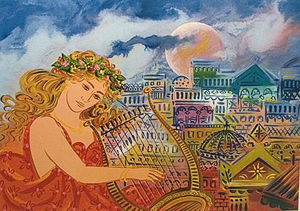 Giorgos Stathopoulos, Young Girl with Harp